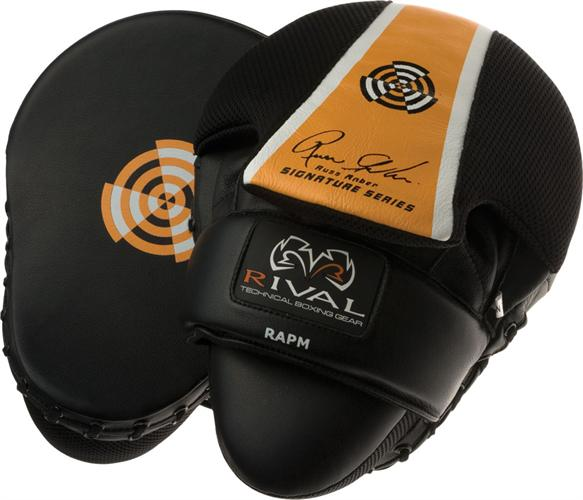 Rival Rival Hi Perf Signature Series Punch Mitts Black And Orange